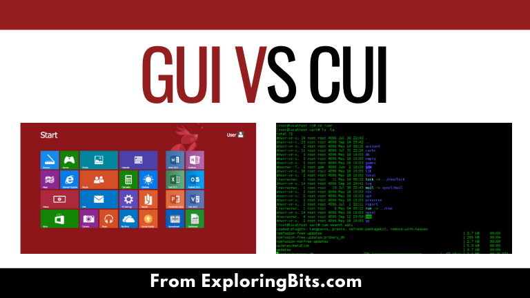 Difference between GUI and CUI