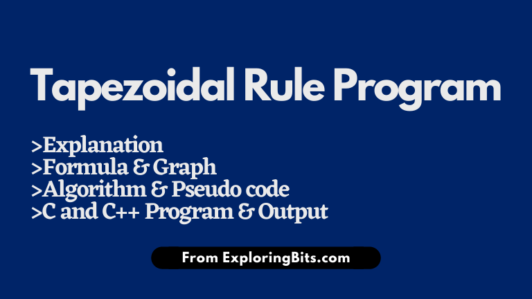 Trapezoidal Rule Program in C and C++