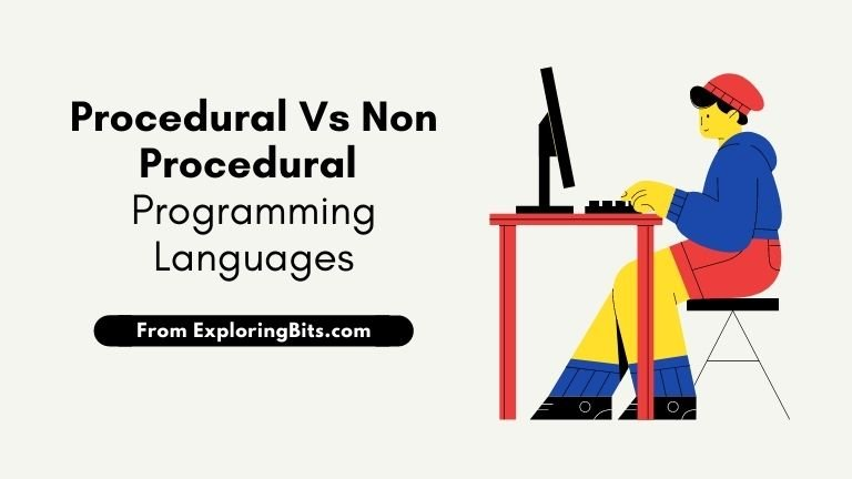 difference between procedural and non procedural languages