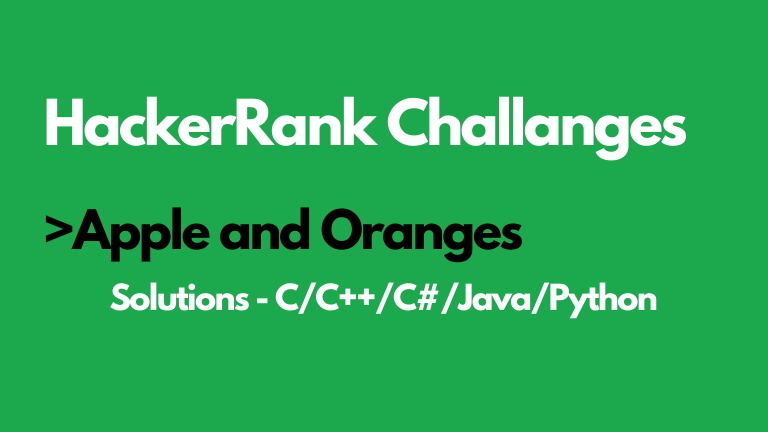 Apple and Oranges HackerRank Solution