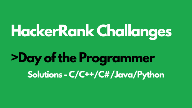 Day of the Programmer HackerRank Solution