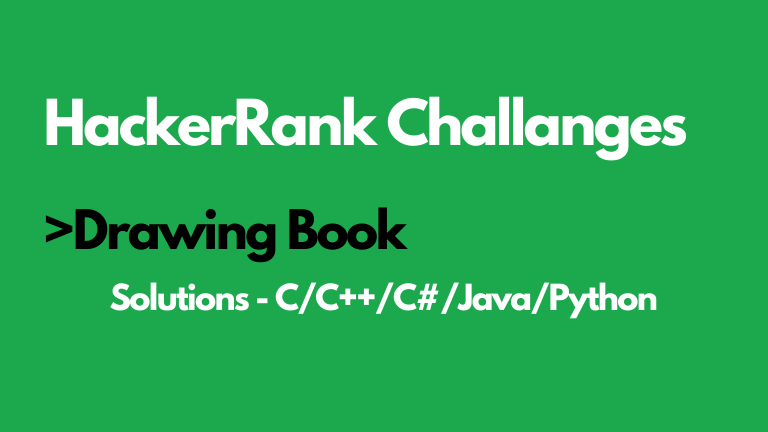 Drawing Books HackerRank Solution