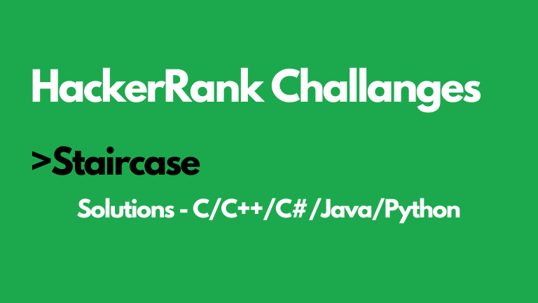 Staircase HackerRank Solution