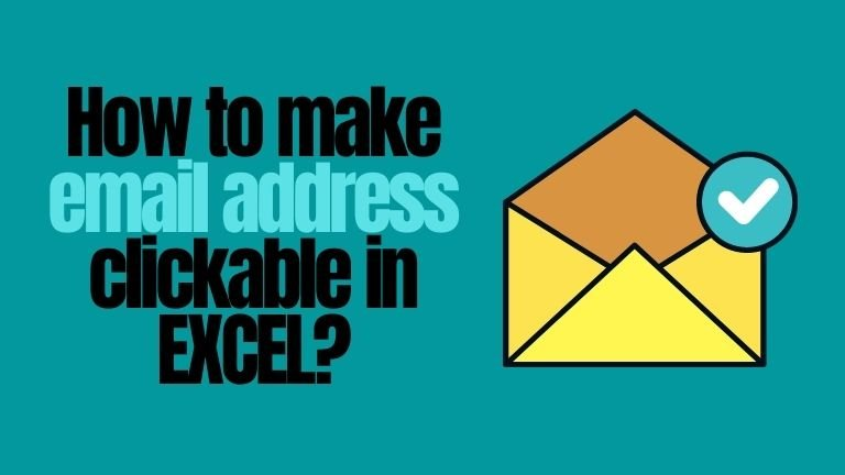 how to make email address clickable in excel