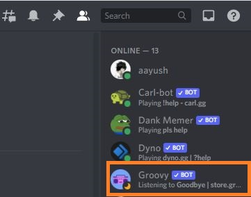 Groovy bot remove from sidebar