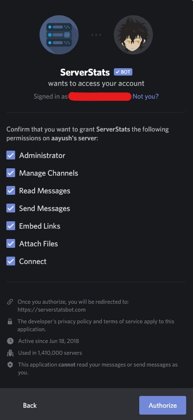 HOW TO ADD THE SERVER STATS BOT