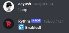 how to loop in rythm bot discord